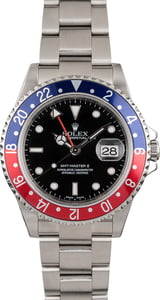 Used Rolex GMT-Master II Pepsi 16710 No Holes Watch
