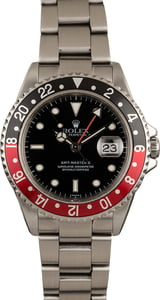 Used Rolex Coke GMT Master II Ref 16710 Red & Black Bezel
