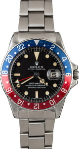 Vintage 1968 Rolex GMT-Master 1675 Pepsi with Mark I Dial