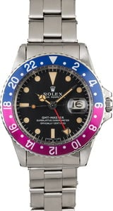 Vintage 1969 Rolex GMT-Master 1675 Mark I Dial with Fuchsia Bezel