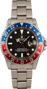 "Vintage 1965 Rolex GMT-Master 1675 ""Pepsi"" Watch"