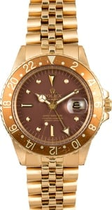 Rolex GMT-Master 1675 Yellow Gold