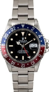 PreOwned Rolex GMT-Master 16750 'Pepsi' Insert