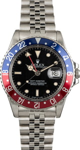 Used Rolex GMT-Master 16750 Red and Blue 'Pepsi' Insert