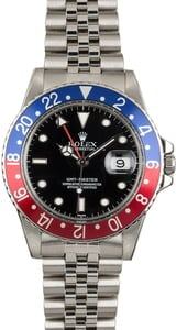 Used Rolex GMT-Master 16750 Red and Blue 'Pepsi' Bezel