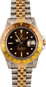 Pre-Owned Rolex GMT-Master 16753 'Root Beer' Insert
