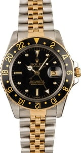 Pre-Owned Rolex GMT-Master 16753 Two Tone Watch