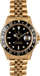 Men's Rolex GMT-Master 16758 Yellow Gold Jubilee
