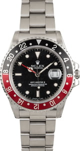 PreOwned Rolex GMT-Master II Ref 16760 'Fat Lady Coke' Insert