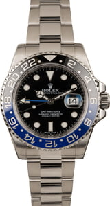 Pre Owned Rolex GMT Master II Ref 116710 Batman Model