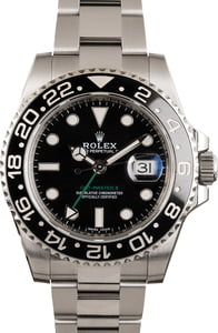 Pre-Owned Rolex Ceramic GMT-Master II Ref 116710 Black Dial