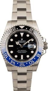 Pre-Owned Rolex Batman GMT-Master II Ref 116710
