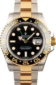 Used Rolex GMT-Master Two Tone 116713 Black Dial