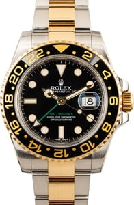 GMT Master II Rolex Steel and Gold 116713 Black