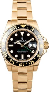 PreOwned Rolex GMT-Master II Ref 116718 Yellow Gold