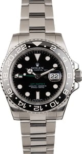 Pre-Owned Rolex Steel GMT-Master II Ref 116710 Ceramic Black Bezel