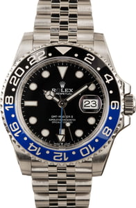 Pre-Owned Rolex Stainless Steel Jubilee 'Batman' GMT-Master 126710BLNR
