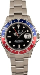 Pre-Owned Rolex GMT Master II Ref 16710 'Pepsi' Watch