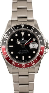 Pre Owned Rolex Coke GMT Master II Ref 16710 Red & Black Bezel