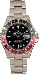 Used Men's Rolex GMT Master II Coke Bezel Model 16710