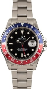 Pre-Owned Rolex 'Pepsi' GMT Master II Ref 16710 Black Dial