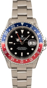 Used 40MM Rolex 'Pepsi' GMT Master II Ref 16710