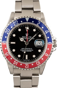 Pre Owned GMT Master II Rolex 16710 Pepsi Bezel