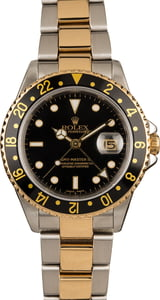 Used Rolex GMT-Master II 16713 Steel and Gold Oyster Band