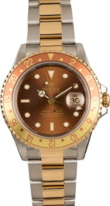 Pre-Owned 40MM Rolex 'Root Beer' 16713 GMT-Master II