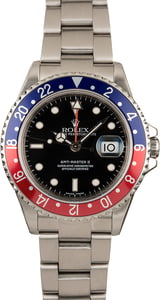 Men's Rolex GMT-Master II 16710 Pepsi No Holes Watch