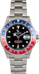 Rolex GMT Master II Pepsi Bezel 16710 Stainless