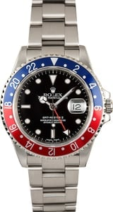 Rolex GMT Master II Pepsi Bezel 16710 100% Authentic