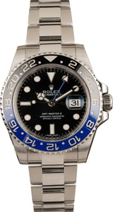 PreOwned Rolex Mens 116710 GMT-Master II Batman Model