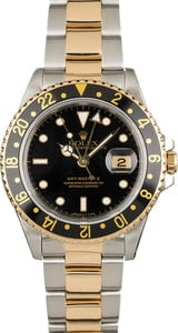 PreOwned Rolex GMT-Master II Ref 16713 Two Tone Oyster Band