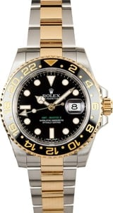 Rolex GMT Master II Steel and Gold 116713 Black