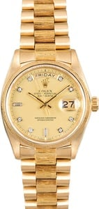 Rolex Gold Day-Date 18078 Bark Finish