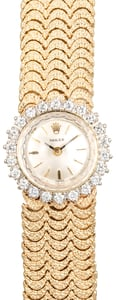 Rolex Gold Ladies Diamond Cocktail Watch
