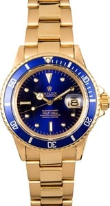 Rolex Vintage Gold Submariner 1680 Blue