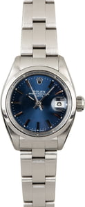 Women's PreOwned Rolex Date 6916 Blue Dial