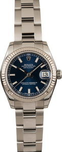 Pre Owned Rolex Mid-Size Datejust 178274 Blue Dial