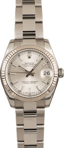 Pre Owned Rolex Mid-Size Datejust 178274 Silver Dial