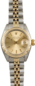Rolex Date 6917 Champagne Index Dial