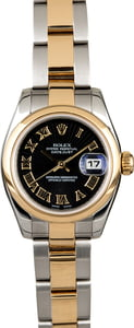Rolex Lady Datejust 179163 Black Sunbeam Dial