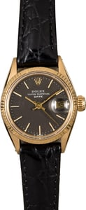 Women's Vintage Rolex Datejust 6517 Leather Strap