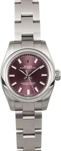 Rolex Lady Oyster Perpetual 176200 Red Grape Dial