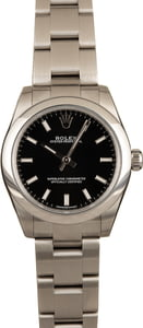 Rolex Lady Oyster Perpetual 177200 Black Luminous Dial