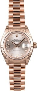 Rolex Ladies Diamond Datejust 279175 Rose Gold