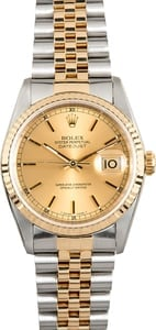Rolex Men's Datejust 16233 Two-Tone