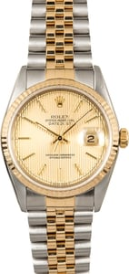 Rolex Two-Tone Datejust 16233 Tapestry Dial