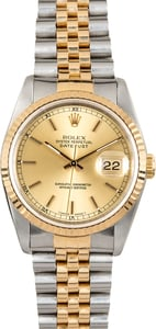 Rolex Men's Two tone Datejust 16233 Champagne Dial